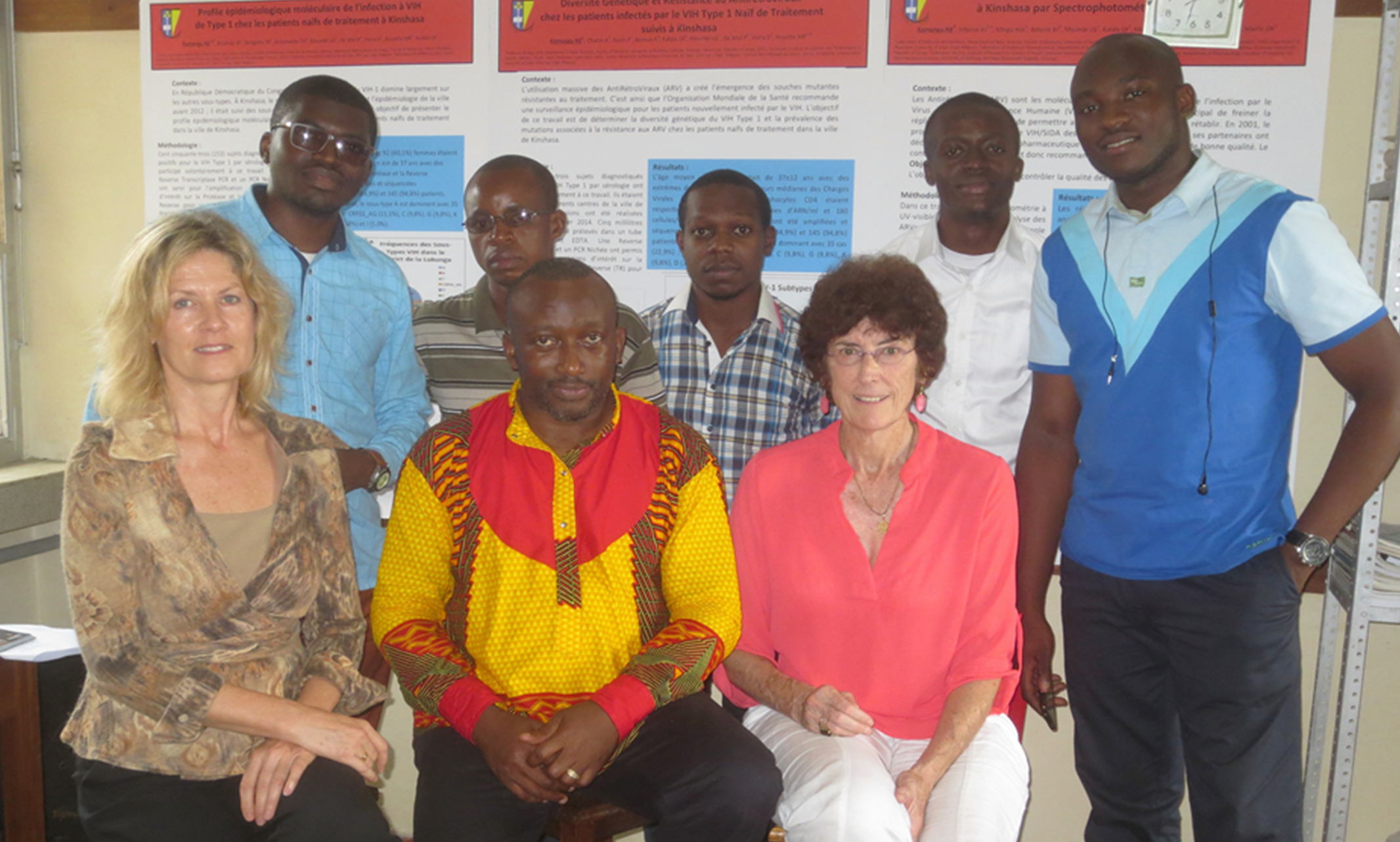 Carole McArthur with the research team in the Democratic Republic of Congo